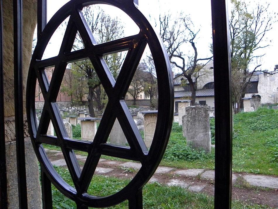 Cimetière juif de Kazimierz à Cracovie en Pologne