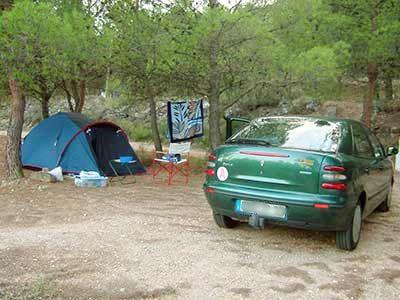 Premier campement en solo de Fany