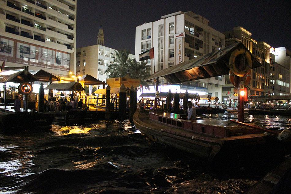 Bateau abra à Dubaï aux Emirats Arabes Unis