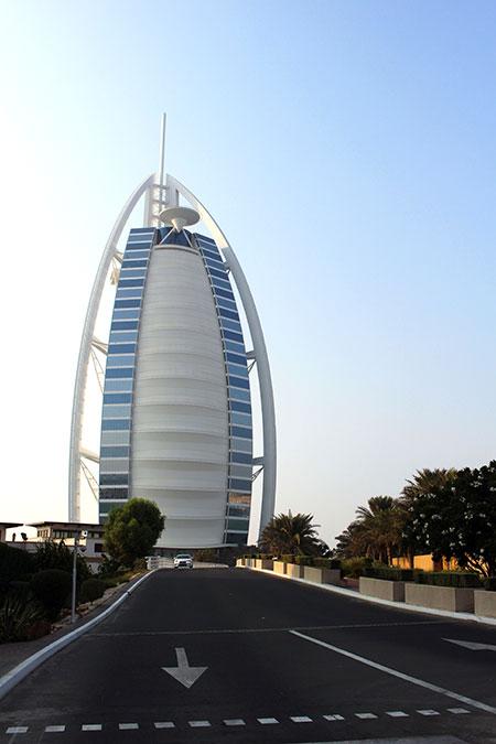 Burj-Al-Arab à Dubaï aux Emirats Arabes Unis