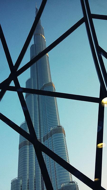 Le Burj Khalifa à Dubaï aux Emirats Arabes Unis