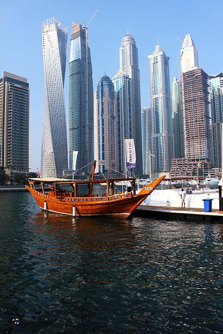 Marina de Dubaï aux Emirats Arabes Unis