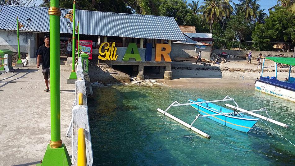 Arrivée sur l'île de Gili Air en Indonésie