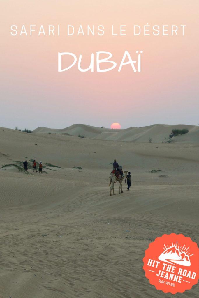 Safari dans le désert, l'autre facette de Dubaï