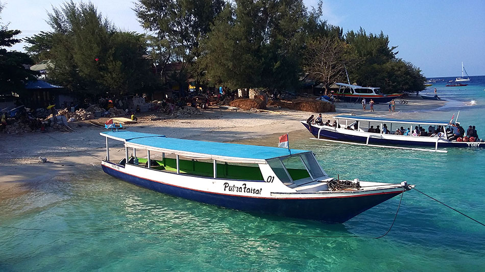 Déplacement inter-îles sur les Gili en Indonésie