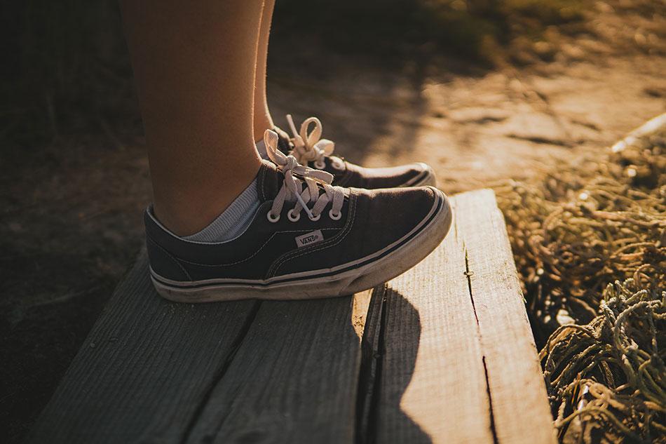 Les Vans sont les chaussures parfaites pour voyager.