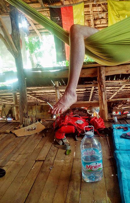 Le hamac est l'option la moins chère pour séjourner à Tonsai beah