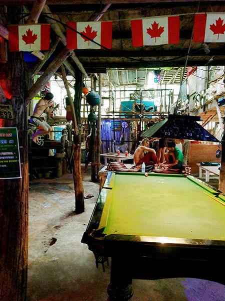 Le bar Sabai Sabai à Tonsai beach en Thaïlande
