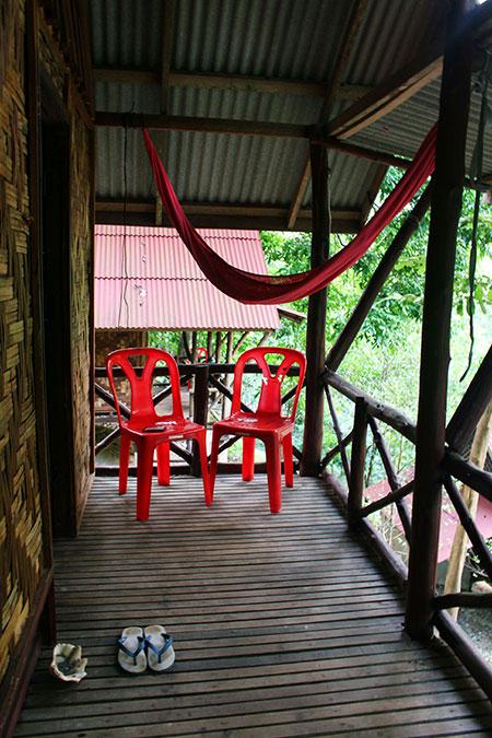 Le balcon de mon bungalow de Tiew Khao à Tonsai beach
