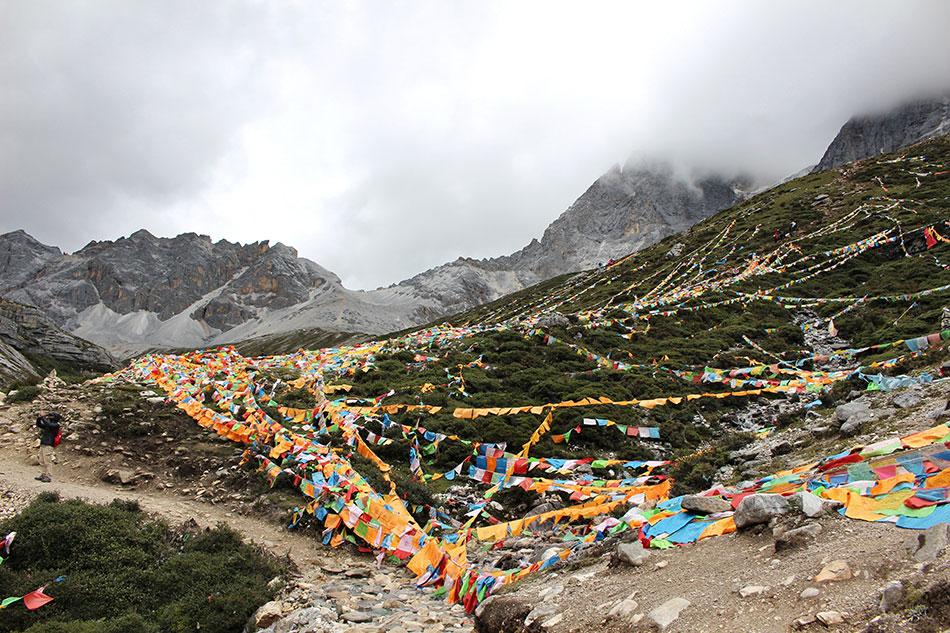 La réserve naturelle de Yading est située dans l'ancienne région Kham aujourd'hui le Sichuan.