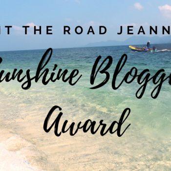 Hit the road Jeanne au Sunshine Blogger Award