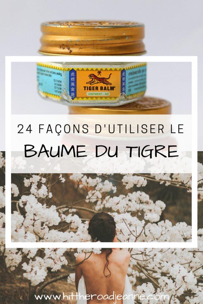 24 utilisations du Baume du Tigre