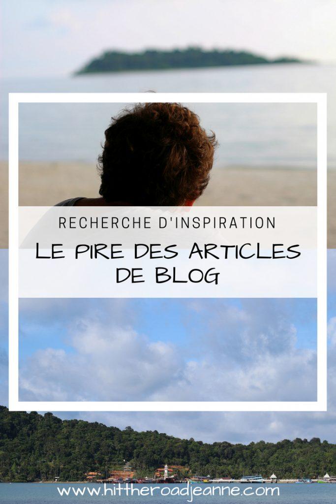 Le pire des articles de blog