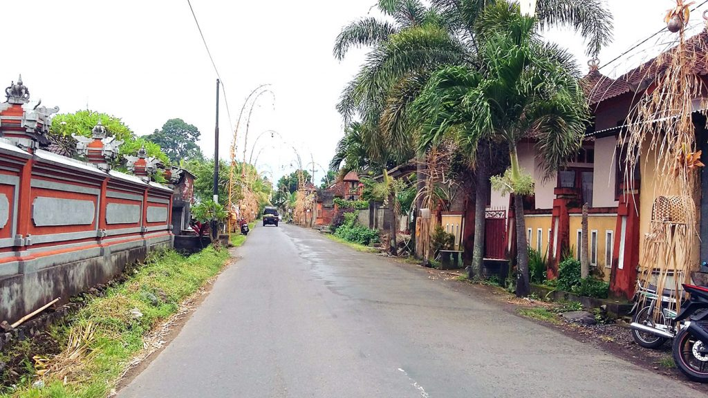 Rue typique de Sidemen (Bali, Indonésie)